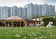 SAGA Das belebteste Haus<br /> <br /> Die Saga GWG kann auch sozial. Wie hier in der Lenzsiedlung unterstützt sie in<br /> vielen Stadtteilen soziale Projekte. Das Bürgerhaus Lenzsiedlung würde es<br /> ohne die Saga so nicht geben. 1978 hat sie hier den ersten Geb&auml;udeteil gebaut. Hamburg 24.05.2012 .