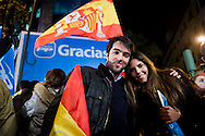 Celebration of the victory of the Partido Popular (PP) at the end of the election recount 2011.La people waiting for the president-elect with his wife and part of the team members greet their constituents.