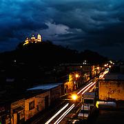 Cholula at night