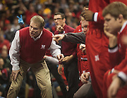Husker head coach Mark Manning during the team's duel against Iowa at the Bob Devaney Sports Center in Lincoln, Neb., on Jan. 24, 2016. Iowa defeated Nebraska.