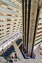 Interior of atrium inside Sheraton Hotel in Doha, Qatar