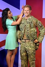 SEP 09 2014 Prince Harry 30th Birthday Wax Work Figure