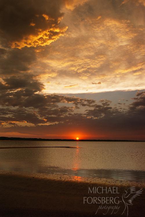 Sunset at Calamus Reservoir, Nebraska Sandhills.