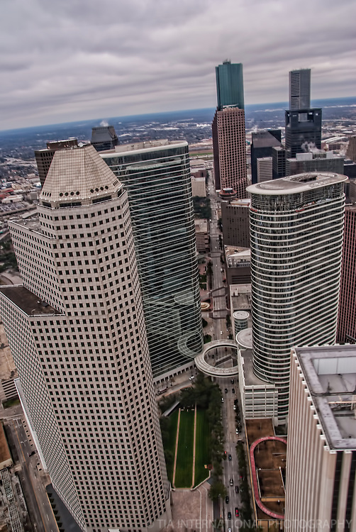Downtown Houston featuring Continental Center & former Enron Towers, Smith Street