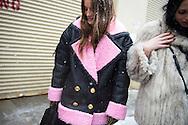 Pink Kenzo x H&M Shearling, Outside Nicholas K FW2017