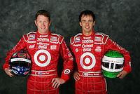 Team mates, Scott Dixon (L), Darren Manning (R), IRL