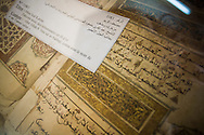 Old manuscripts at Ahmed Baba Institute of Higher Learning and Islamic Research, in Timbuktu, Mali.