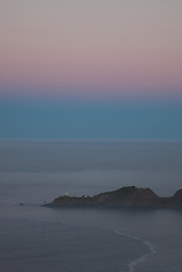 """Point Bonita Lighthouse Sunrise"" - Photograph of the San Francisco Bay's Point Bonita Lighthouse at sunrise."