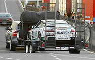 Jim Richards & Barry Oliver.2008 Porsche 911 GT2.Arrive off the Spirit of Tasmania into Devonport.Pre Event.Targa Tasmania 2009.27th of April 2009.(C) Joel Strickland Photographics.