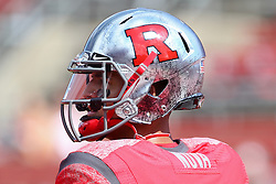 Sept 8, 2012; Piscataway, NJ, USA; Rutgers Scarlet Knights quarterback Gary Nova (15) during the pre-game warmup for their game against Howard at High Point Solutions Stadium.