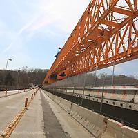 A road construction crane in Oyster Bay, Long Island, New York.Shot on April 17, 2009...Photo Credit; Rahav Segev / Photopass