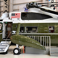Marine One Helicopter at National Naval Aviation Museum in Pensacola, Florida<br /> The National Naval Aviation Museum in Pensacola, Florida, exhibits 150 aircraft from the Marines, Coast Guard and Navy.  If you love historical aircraft, you&rsquo;ll be in heaven.  In the photo is a VH-3A Sea King helicopter that was called &ldquo;Marine One&rdquo; when it transported a US president.  Similar ones are at the Reagan and Nixon museums. On the left is the tail of an S-3 Viking, the only &ldquo;Navy One.&rdquo; It transported President Bush to the USS Abraham Lincoln to declare, &ldquo;Mission Accomplished&rdquo; regarding the Iraq war.  My relative piloted that plane before its final flight.