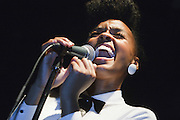Janelle Monae performs at Bowery Ballroom during CMJ Music Marathon in New York City on October, 23, 2008.