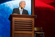 TAMPA, FL - August 30, 2012 - Clint Eastwood speaking on the RNC's final night.  Eastwood spent part of his speech speaking to an empty chair.