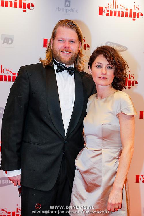 NLD/Amsterdam/20121119 - Premiere Alles is Familie, Korneel Evers en partner
