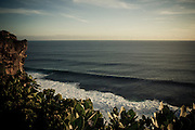 The Indian Ocean at sunset near Uluwatu Temple, Bali, Indonesia.