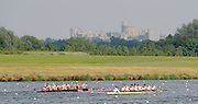 Eton,  GREAT BRITAIN. Championships 8+ left Adigdon School and Shrewsbury School race up the course with Widsor Castle in the backgorund Eton Schools' Regatta, Eton Rowing Centre, Dorney Lake. [Finish of cancelled National Schools Regatta], Saturday, 07/06/2008  [Mandatory Credit:  Peter SPURRIER / Intersport Images] Rowing Courses, Dorney Lake, Eton. ENGLAND