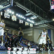 "Delaware 87ers Guard Matthew Bouldin (23) ""LEFT"" drives towards the basket for the easy lay up attempt during the course of a NBA D-league regular season basketball game between the Delaware 87ers (76ers) and Springfield Armor (Nets) Saturday, Dec. 28, 2013 at The Bob Carpenter Sports Convocation Center, Newark, DE"