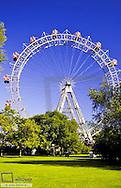 """Giant Ferry Wheel (""""Riesenrad""""), Prater Vienna, Austria, Vienna, 2. district, Prater"""
