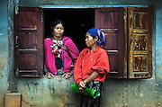Khamu women in their village near Luang Prabang, Laos.