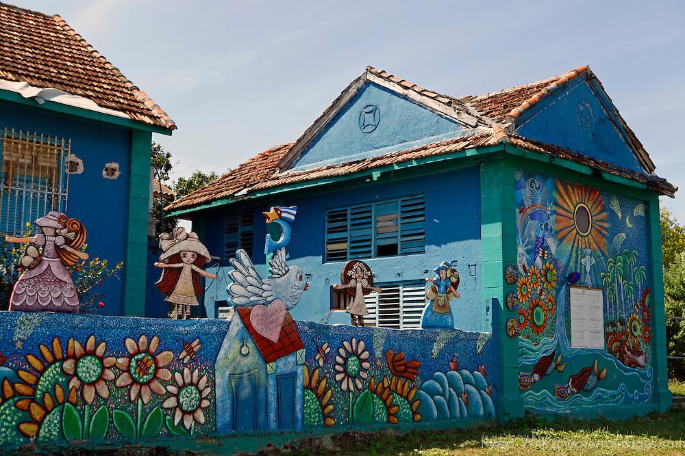 Central America, Cuba, Caibarien. Home and studio of Cuban artist Mayelin Perez Noa in Caibarien.