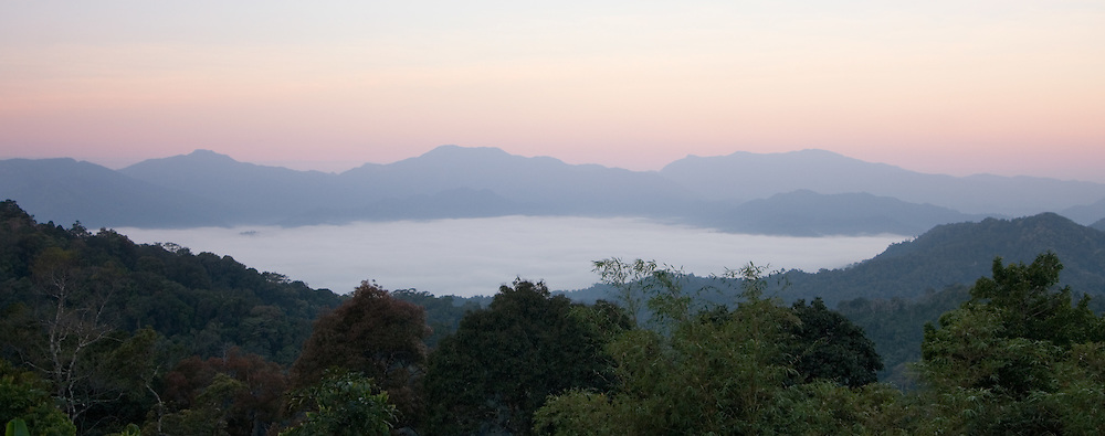 View of the Sea of Fog from Panoen Thung camp in Kaeng Krachan National Park, Thailand