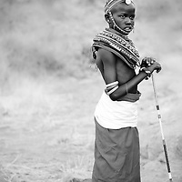 Local girl n traditional dress, Samburu, Kenya