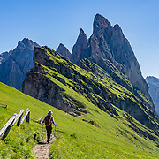 ITALY: Dolomites: Corvara, Gardena, Funes, Puez-Geisler (Odle) Park