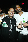 l to r: DJ Enuff and Johnny Nunez at the Jadakiss performance of his new album ' The Last Kiss '  held at Highline Ballroom on April 8, 2009 in New York City