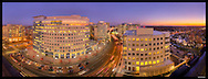 Panorama of Ballston neighborhood in Arlington, VA.  Image Captured 2011.<br /> Print Size (in inches): 15x5.5; 24x9; 36x13; 48x18; 60x23; 72x27.5