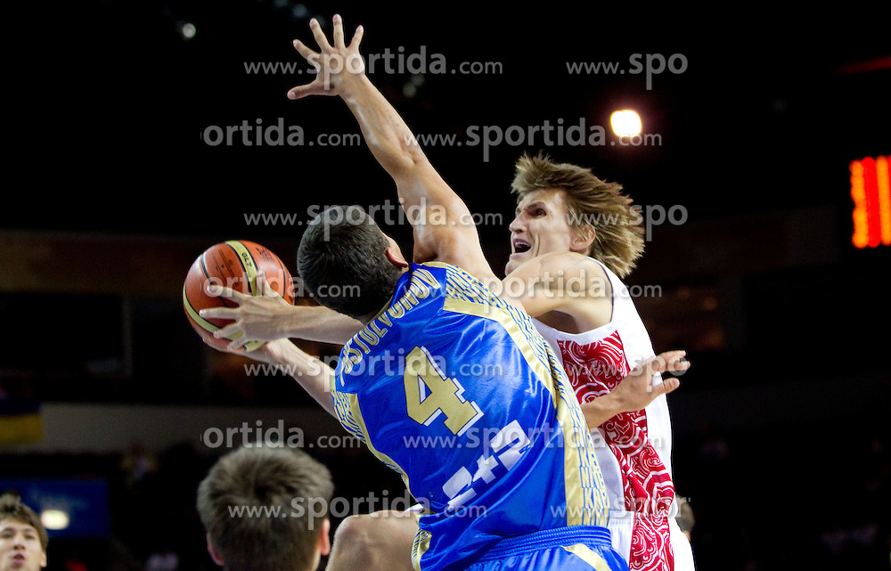 Andrei Kirilenko of Russia during basketball match between National teams of Russia and Ukraine in Group D of Preliminary Round of Eurobasket Lithuania 2011, on August 31, 2011, in Arena Svyturio, Klaipeda, Lithuania. (Photo by Vid Ponikvar / Sportida)