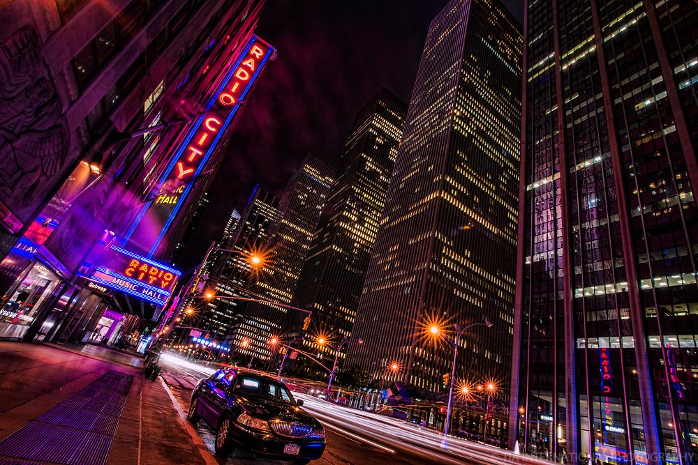 Radio City Music Hall, 6th Avenue (Color)