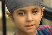 Indian girl with beautiful green eyes