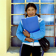 Warmi Sayajsungo is a women«s organization based in Argentina that helps women become self-sufficient. Rosario Quispe, who has seven children, and is the wife of an unemployed miner, founded the organization of indigenous Coya in 1995, called Warmi Sayajsungo, which in quechua means ÒWomen«s PerseveranceÓ. Rosario had an ambitious dream for the Coya people who lived high on the arid plateau where Argentina and Bolivia meet, in the shadow of the Andes. That dream was that one day they would live in dignity on the fruits of their own work. They are taught skills and given micro credits to help their small businesses prosper..Each person photographed has their own story to tell about their life now and how the organization changed their lives for the better..Photo©Amaya Roman/Workers Photos