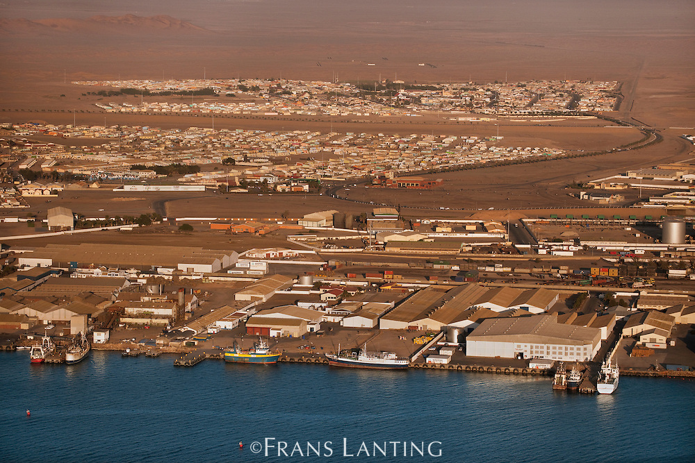 Fishing docks (aerial), Walvis Bay, Namibia