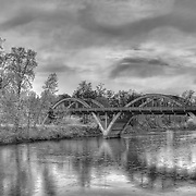 Caveman Bridge - Rogue River - Grants Pass, Oregon - HDR - Black & White