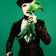 Cyndi Lauper photographed in Los Angeles in 1995. Originally commissioned for Epic Records.<br />