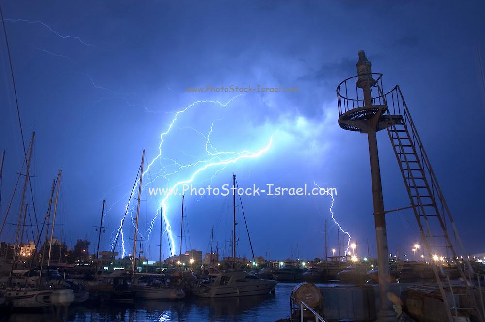 Lightning storm, Larnaca Cyprus