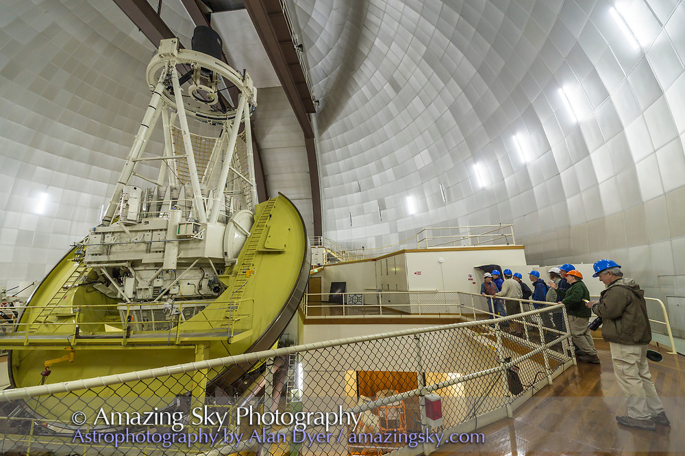 The 4-metre telescope at the Siding Spring Observatory, Australia.