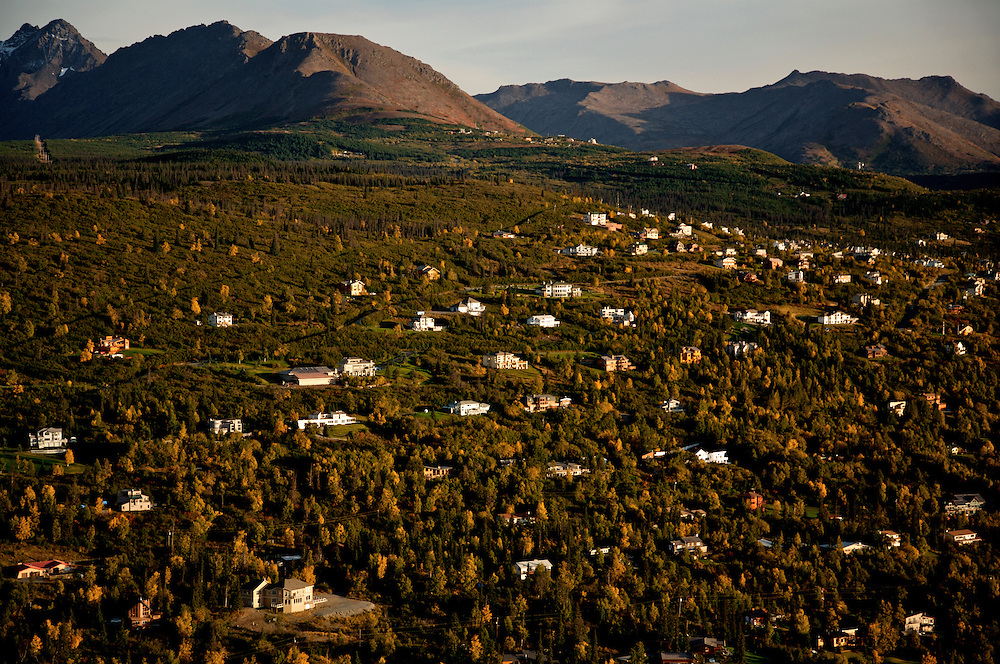 """Those who live on the hight western-facing Anchorage Neighborhoods (collectivly known as the """"Hillside"""") enjoy a great view of Anchorage."""