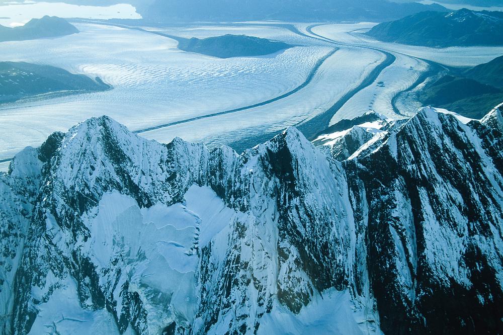 Glacier Bay National Park. Aerial. Alaska.