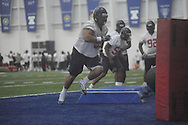 Defensive tackle Gilbert Pena (99) during Ole Miss' spring practice at the IPF in Oxford, Miss. on Monday, March 28, 2011.