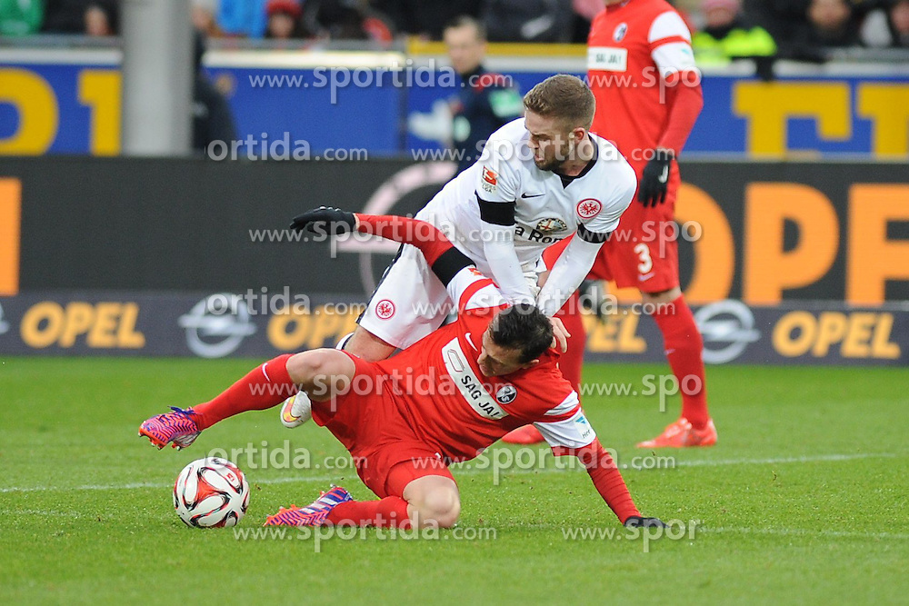 31.01.2015, Schwarzwald Stadion, Freiburg, GER, 1. FBL, SC Freiburg vs Eintracht Frankfurt, 18. Runde, im Bild (l.) Vladimir Darida (SC Freiburg) im Zweikampf, Aktion, mit (r.) Marc Stendera (Eintracht Frankfurt) // during the German Bundesliga 18th round match between SC Freiburg and Eintracht Frankfurt at the Schwarzwald Stadion in Freiburg, Germany on 2015/01/31. EXPA Pictures &copy; 2015, PhotoCredit: EXPA/ Eibner-Pressefoto/ Laegler<br /> <br /> *****ATTENTION - OUT of GER*****