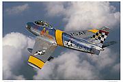 F-86 USAF, aerial