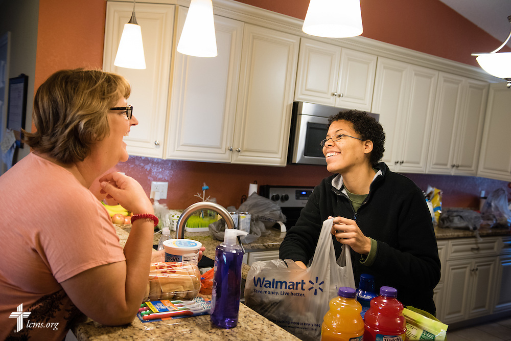 Executive Director Sheryl DeWitt chats with Jenny at Redeeming Life Maternity Home  on Thursday, Feb. 12, 2015, in Sanford, Fla. The Christ-centered home of Redeeming Life Outreach Ministries is a safe haven for single women in crisis pregnancy. LCMS Communications/Erik M. Lunsford