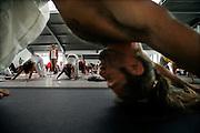 Milano, festival dello yoga al superstudio . lezione di Hata Yoga, condotta da Walter THIRAK RUTA....Milan, yoga festival, Hata Yoga lesson with teacher Thirak Ruta