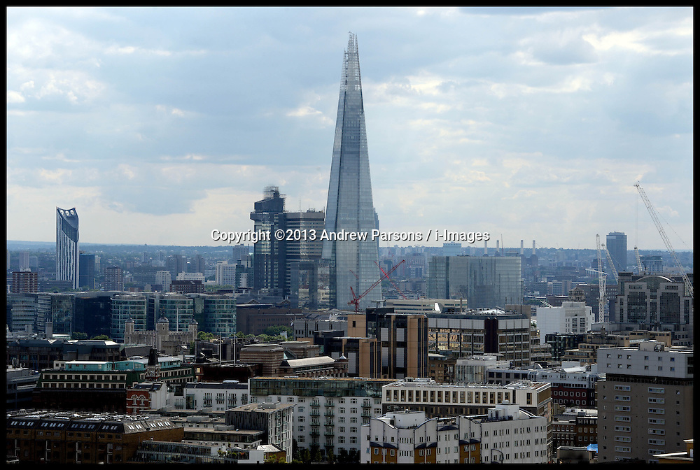 General View of the Shard in  London, United Kingdom<br /> Tuesday, 6th August 2013<br /> Picture by Andrew Parsons / i-Images