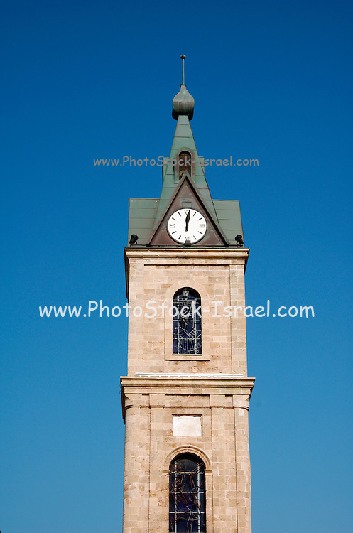 The Old clock tower in Jaffa, Clock Square, built in 1906 in honor of Sultan Abed al-Hamid II's 25th anniversary, became the center of Jaffa, and it is centered between Jaffa's markets. December 2005