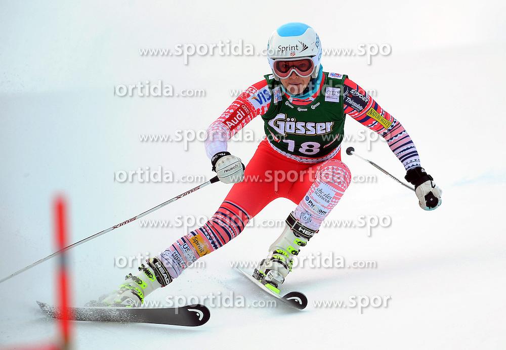 28.12.2013, Hochstein, Lienz, AUT, FIS Weltcup Ski Alpin, Lienz, Riesentorlauf, Damen, 1. Durchgang, im Bild Julia Mancuso (USA) // Julia Mancuso (USA) during the 1st run of ladies giant slalom Lienz FIS Ski Alpine World Cup at Hochstein in Lienz, Austria on 2013/12/28. EXPA Pictures © 2013, PhotoCredit: EXPA/ Erich Spiess