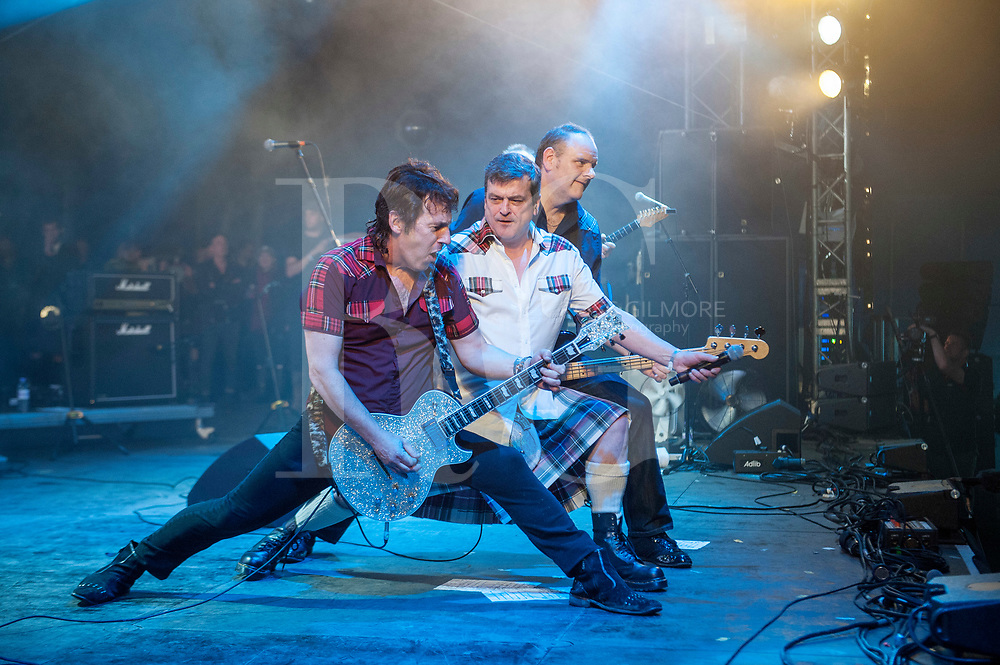 The Bay City Rollers performs at king Tuts tent on Day 2 of the T in the Park festival at Strathallan Castle on July 09, 2016 in Perth, Scotland. (Photo by Ross gilmore)